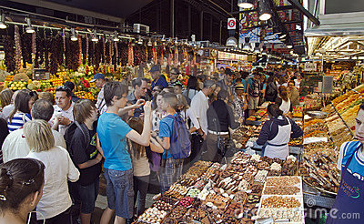 La Boqueria market Editorial Photography