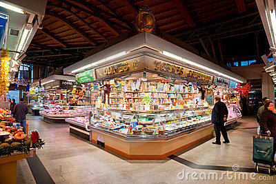 La boqueria market, Barcelona, Spain. Editorial Stock Image