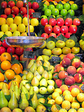 Free La Boqueria Produce Market Stock Photography - 4455752