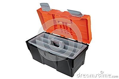 la bo te outils vide ouverte a fait of le noir et l 39 orang outan en plastique de material. Black Bedroom Furniture Sets. Home Design Ideas