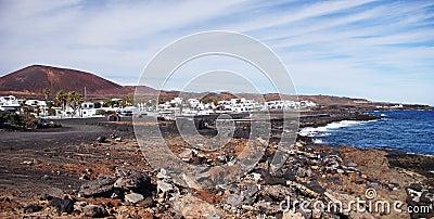 La Caldera and Cocoteros, Lanzarote, Canary Island