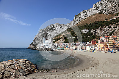 La Caleta beach in Gibraltar