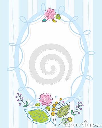 la carte postale cadre bleu barr color d coupe fleurit illustration de vecteur image. Black Bedroom Furniture Sets. Home Design Ideas
