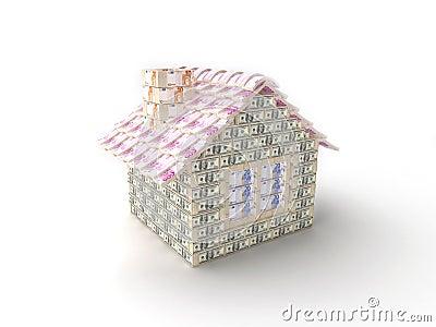 La casa hecha de 100 dólares