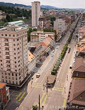 La Chaux de Fond, Switzerland Editorial Stock Photo
