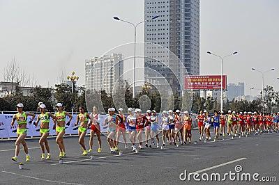 La Chine Londres 2012 Jeux Olympiques retenus dans les jiangs Photo stock éditorial