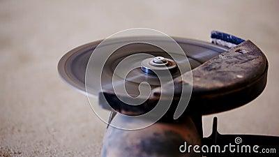 La circulaire a vu étroitement vers le haut de l'outil de travail banque de vidéos