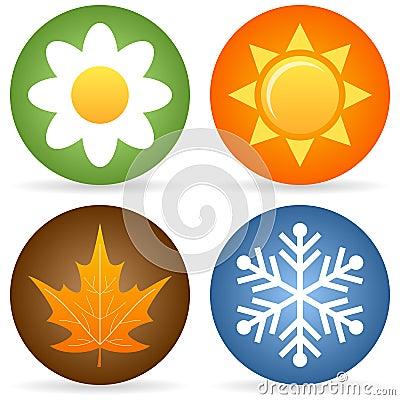 Cuatro iconos de las estaciones