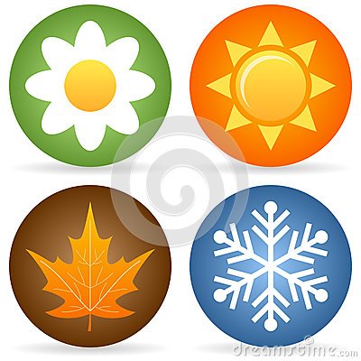 Quatre icônes de saisons