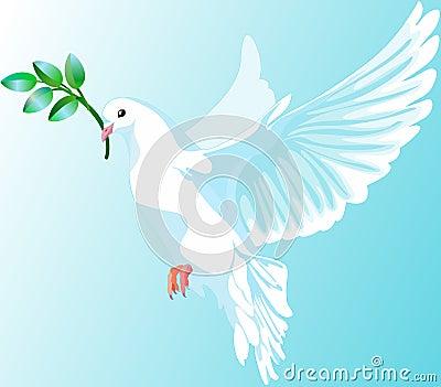 La colombe blanche de la paix