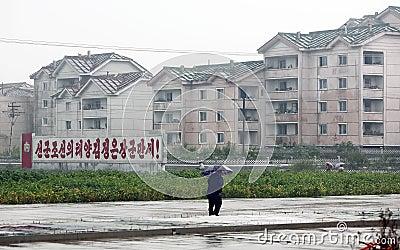 La Corée du Nord Sinuiju 2013 Photographie éditorial