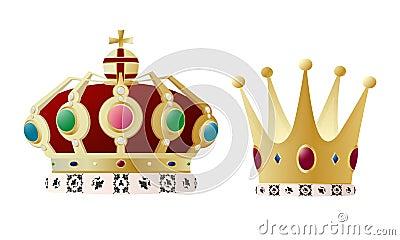 Corona del rey y de la reina