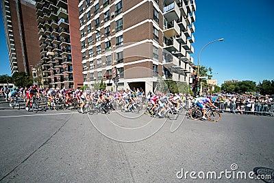 La corsa di Peloton Fotografia Editoriale