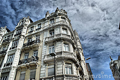 La Coruna buildings, north of Spain