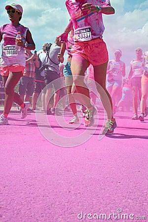 La couleur courue à Utrecht Photo stock éditorial
