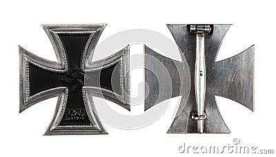 La cruz alemana del hierro de 1 clase