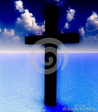 La cruz en el agua diurna 6