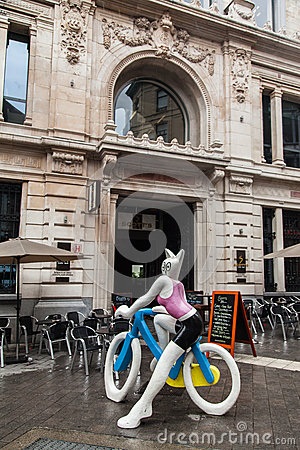 La Cycliste Brussels Editorial Stock Photo