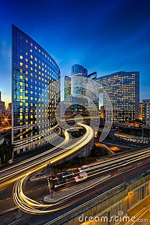 La Défense buildings Editorial Stock Photo