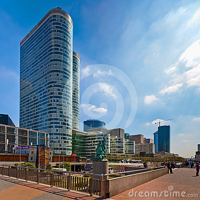 La Defense in Paris Editorial Stock Photo
