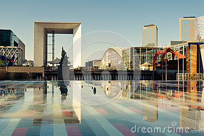 La Defense, Paris. Editorial Stock Photo