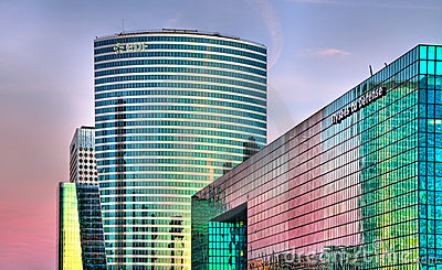 La Defense  skylines Editorial Photo