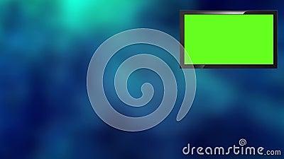 La derecha virtual simple de la Sistema-pantalla del presentador de las noticias de la TV metrajes