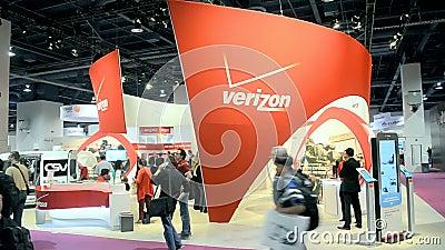 La dimostrazione di Verizon durante ACCHIAPPA la mostra 2014 di manifestazione a Las Vegas, U.S.A., archivi video