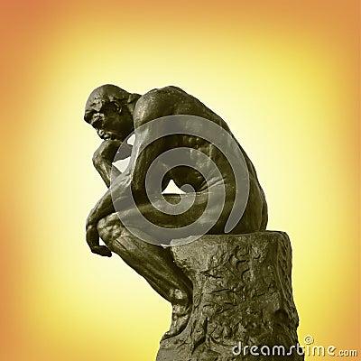 La estatua del pensador Imagen editorial