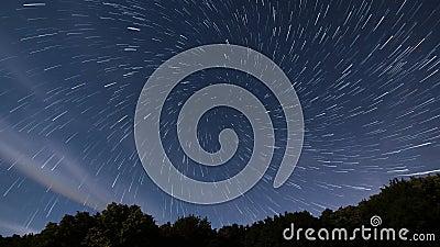 La estrella arrastra lapso de tiempo del vórtice metrajes
