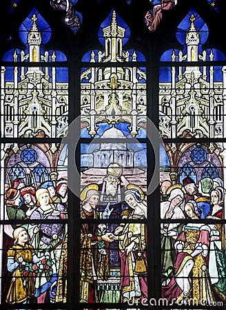 La Ferte-Bernard, stained glass