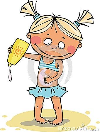 La fille sur la plage