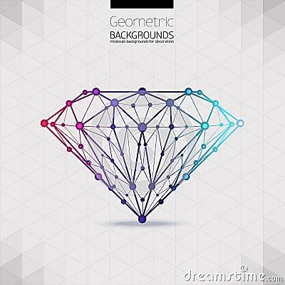 La forma geometrica della grata di diamante molecolare for Soggiorno a forma di diamante