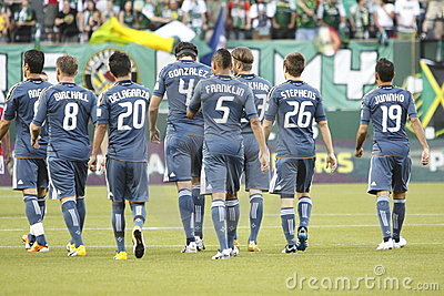 LA Galaxy Editorial Stock Photo