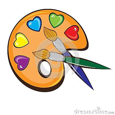 La gama de colores del arte de pinturas y de cepillos - Gama de colores de pinturas ...