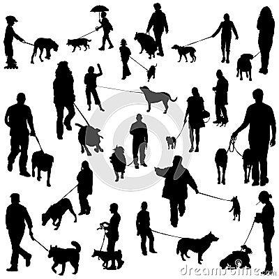 La gente con i cani