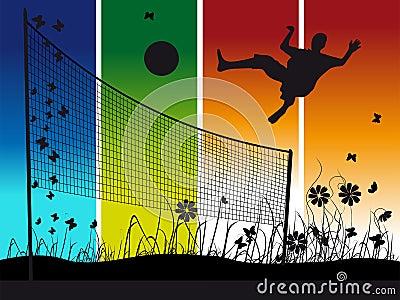 juega voleibol: