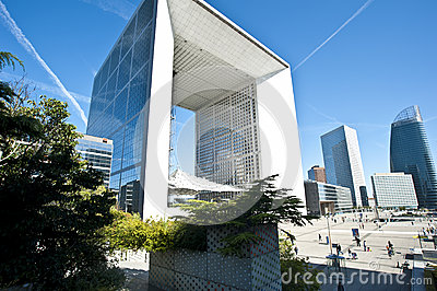 La Grande Arche la defense Paris Editorial Stock Photo