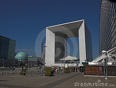 La Grande Arche, La Defense, Paris, France Editorial Stock Photo