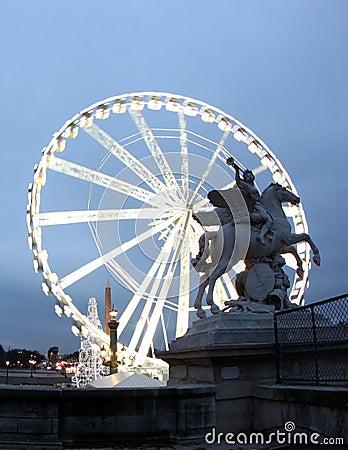 Free La Grande Roue Ferris Wheel In Paris France Stock Image - 17833241