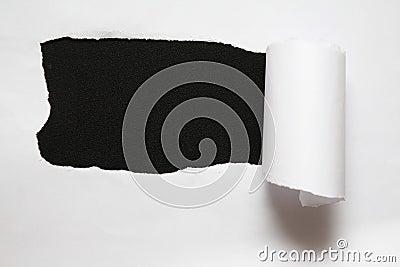La hoja del papel rasgado