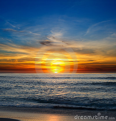 Free La Jolla Sunset Royalty Free Stock Photography - 5839357