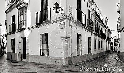 La Juderia district in Cordoba, Spain Editorial Stock Photo