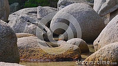 La laguna di pietra stock footage