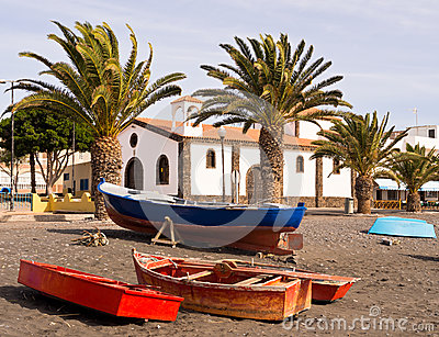 Fishing Village Fuerteventura Canary Islands Spain