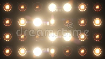 La lueur de boucle des lumières clignotantes VJ agnelle l'étape banque de vidéos