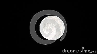La luna attraverserà l'ombra 01-23-2019 della terra nella sola eclissi lunare totale video d archivio
