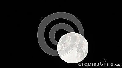 La luna attraverserà l'ombra 01-23-2019 della terra nella sola eclissi lunare totale stock footage