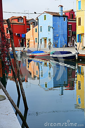 Vue de Burano Photo stock éditorial