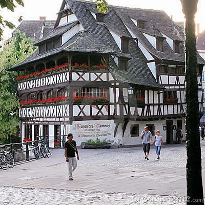 La Maison des Tanneurs - old house in Strasbourg Editorial Photography